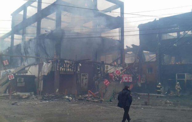 Пожар ТЦ Дагестан